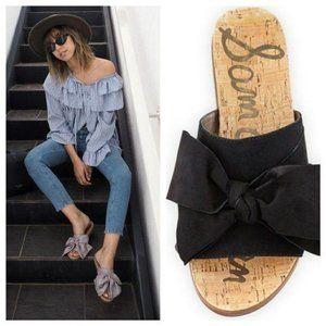 SAM EDELMAN Henna Style Slide Sandals Large Suede
